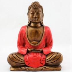 Buda rojo meditando